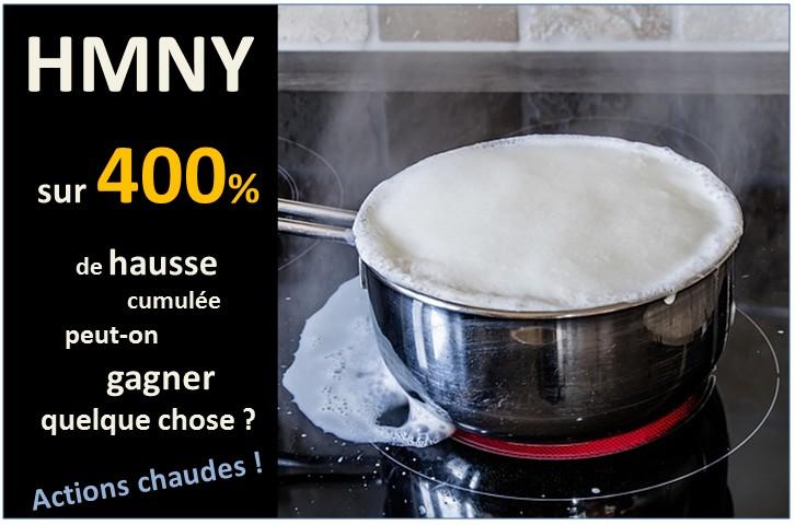 HMNY : sur +400% de hausse cumulée pourriez-vous grappiller quelque gain ?