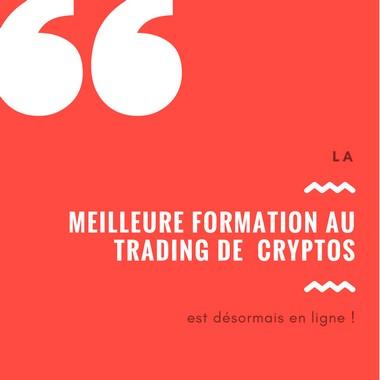 La meilleure formation au trading de crypto-monnaies est enfin sortie