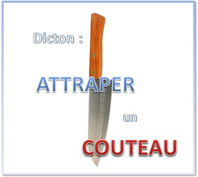dicton boursier couteau qui tombe