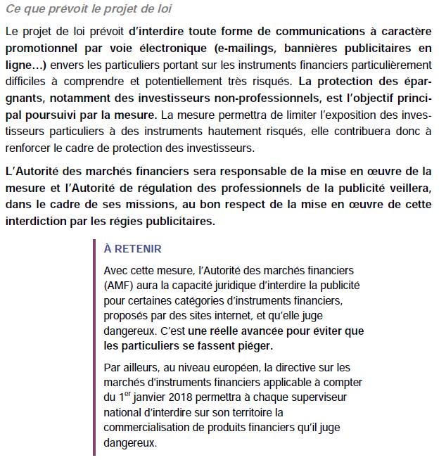 loi sapin 2 publicite forex