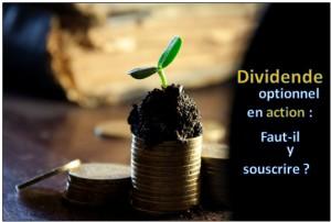 dividende optionnel en action