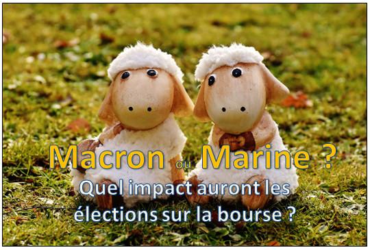 Macron Le Pen : quel impact les élections auront sur les actions en bourse ?