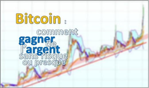 BitCoin : comment gagner de l'argent sans risque ou presque