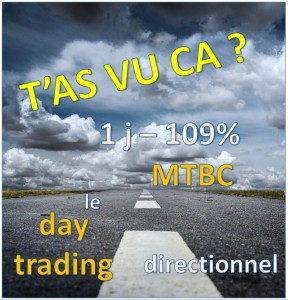 MTBC intraday directionnel