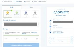 coinbase achat BTC ETH