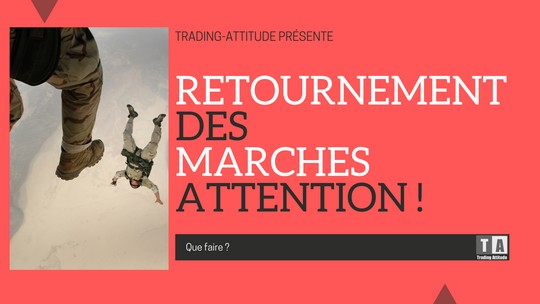 Retournement des marches attention
