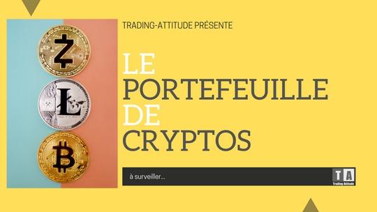 Portefeuille de cryptos à suivre