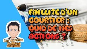 faillite courtier